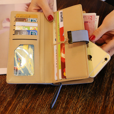Women's Wallet Long-style Handbag Hollow Leaf Zipper Buckle Wallet Card